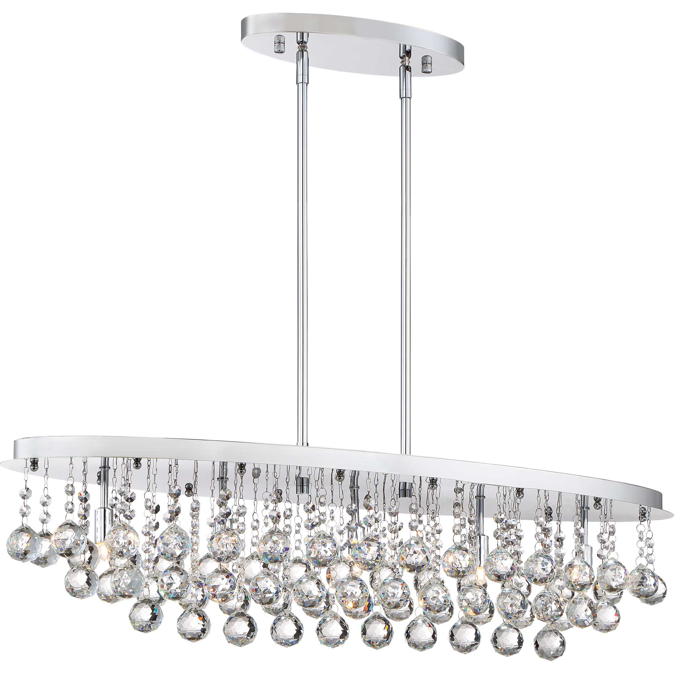 Quoizel Lighting Brx535c Bordeaux With Clear Crystal Island Chandelier