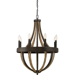 Quoizel Lighting PB5008TK Chandelier With 8 Lights