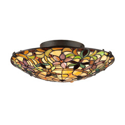 Quoizel Lighting TF1396SVB Tiffany Flush Mount