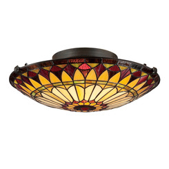 Quoizel Lighting TF1400SVB Tiffany Flush Mount
