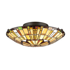 Quoizel Lighting TF1408SVB Tiffany Flush Mount