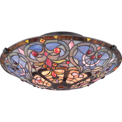 Quoizel Lighting TF1805SVB Tiffany Flush Mount