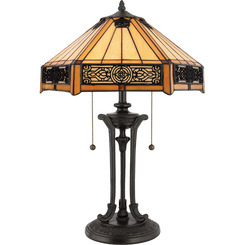 Quoizel Lighting TF6669VB Tiffany Table Lamp