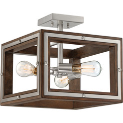 Quoizel Lighting WTY1715BN Westerly Semi-Flush Mount