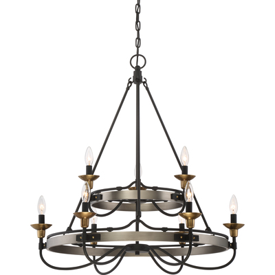 Quoizel Lighting CTH5009AN Two Tier Chandelier With 9 Lights
