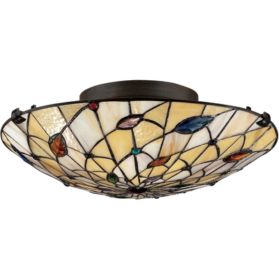 Quoizel Lighting TF1409SVB Tiffany Flush Mount